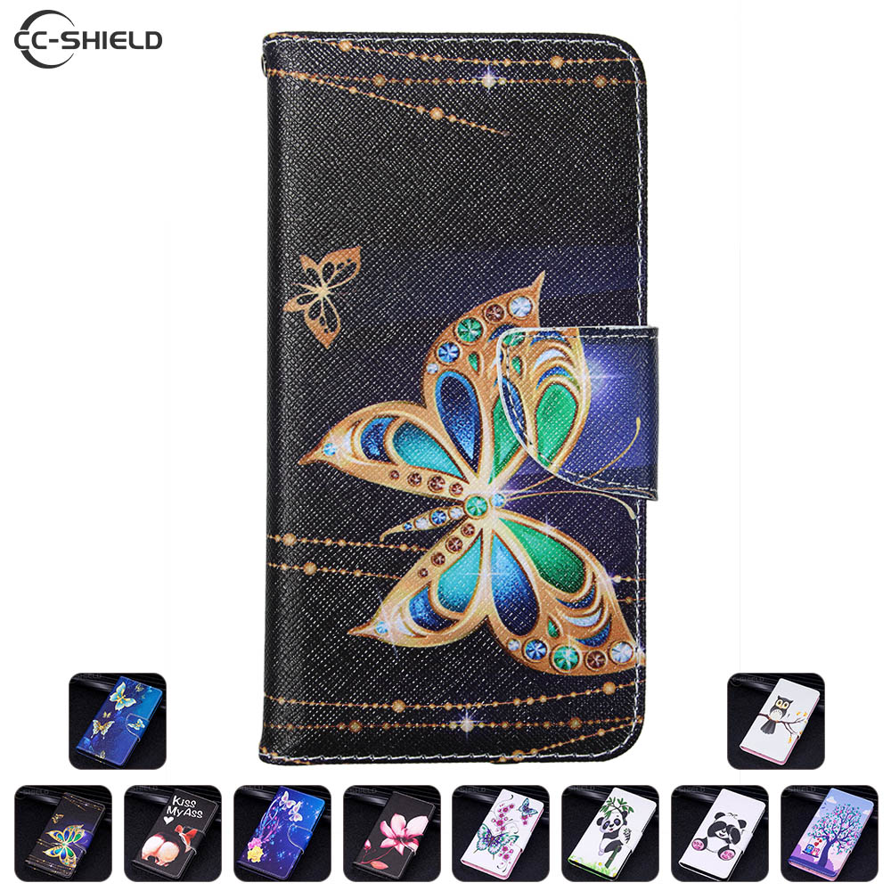Flip Case For Huawei Y5 2017 MYA-L22 Y5 III MYA-U29 Case Painted Phone  Leather Cover For Huawei Y 5