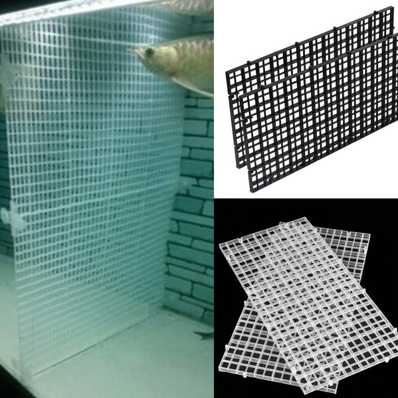 2pcs Plastic Fish Tank Isolation Divider Filter Patition Board Aquarium Net Divider Holder Filter Accessories
