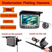 Updated Eyoyo Original 15M Underwater 1000TVL Ice Fishing Camera Fish Finder 4 3 Monitor 8 Infrared