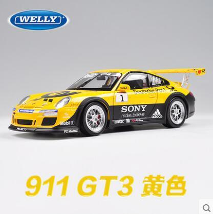 911 GT3 RS 1:18 welly car model alloy metal diecast collection boy gift racing car sports car supercar original  Fast & Furious