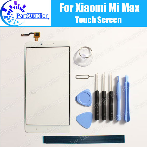For Xiaomi Mi Max Touch Screen Panel 100% Guarantee Newl Glass Panel Touch Replacement For Xiaomi Mi Max