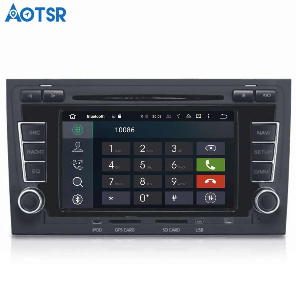 Aotsr Android 8.1 de navegação GPS DVD Player Do Carro Para Audi A4 S4 RS4 2003-2012 multimedia 2 rádio din gravador 4 gb + 32 gb gb + 16 2 gb