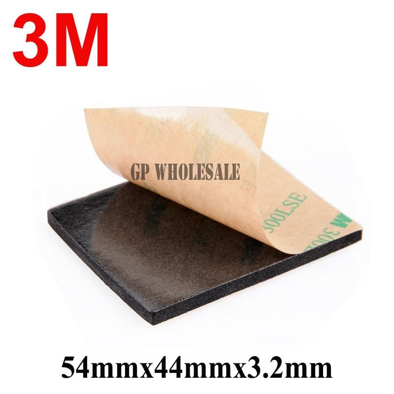 Original 3M 300LSE 9495LE EVA Foam Double Sided Adhesive Tape Pad Mounting Tape 54mmx44mmx3.2mm Black Клейкая лента