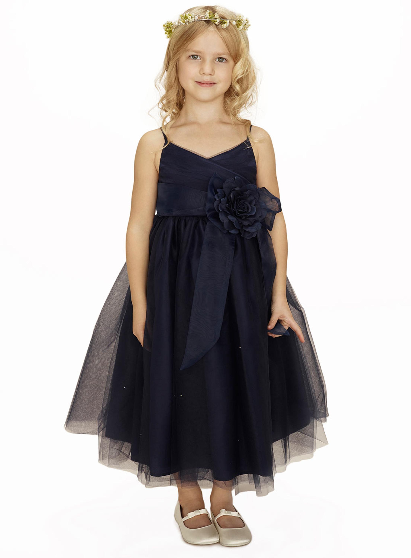 Sleeveless Flower Girls Dresses For Wedding Gowns Ankle-Length Kids Prom Dresses Black Mother Daughter Dresses For Girls Party