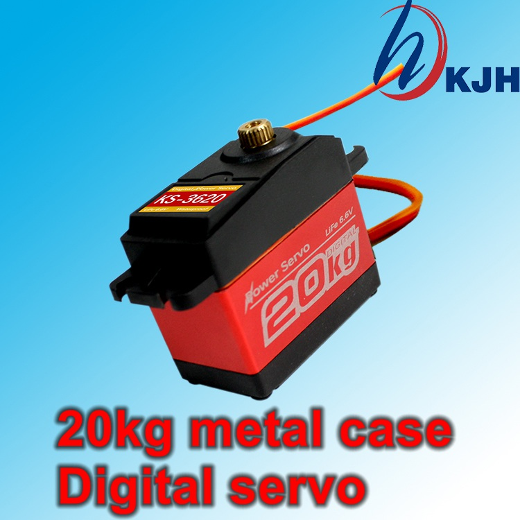 Metal shell gear full waterproof digital servo. Large torque 20kg. Robot Servo. arm Servo. Climbing car servo. Free Shipping jx pdi 6221mg 20kg large torque digital standard servo for rc model