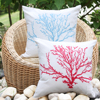 100 Cotton Colorful Owl And Old Tree Screen Printed Decorative Pillow Cover
