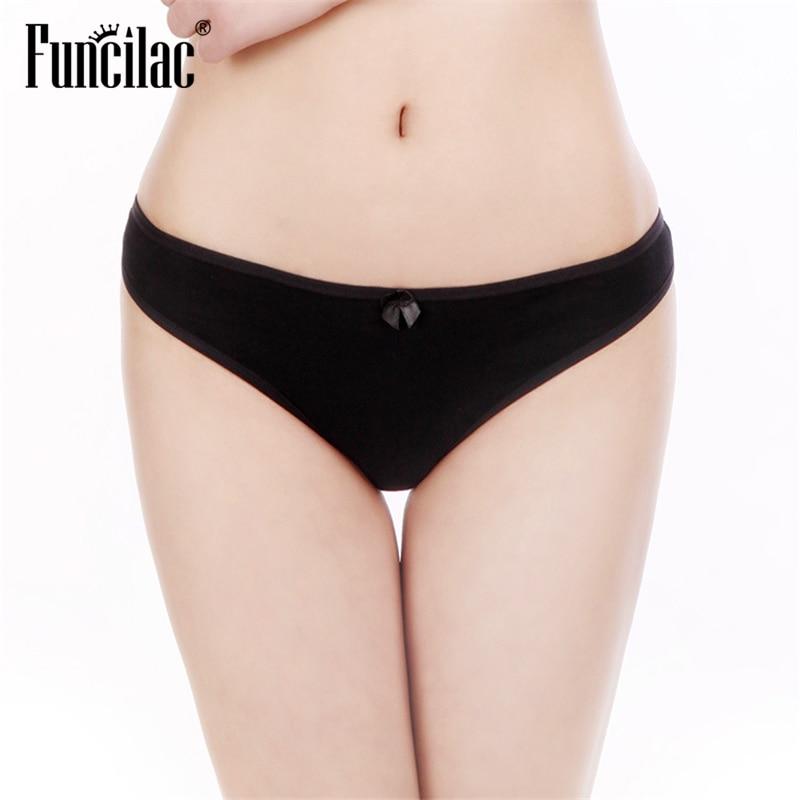 Sexy Women Cotton Panties Briefs For Women Ladies Underwear Girls Knickers Female Lingerie Solid Bikini 1 Piece FUNCILAC