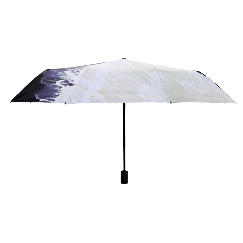 Hand Painted Printing Creative Fully-automatic Umbrella Men Women Folding  Sunny and Rainy Umbrella Parasol Super Strong Anti UV - us322 dfff5015573f