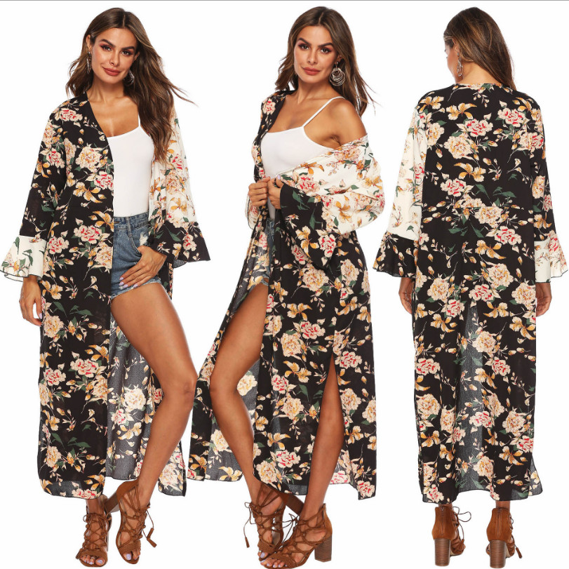 07a42d4a921a Pareos de playa Mujer traje de baño ropa de mujer para el verano vestidos  cubierta Ups estampado ...