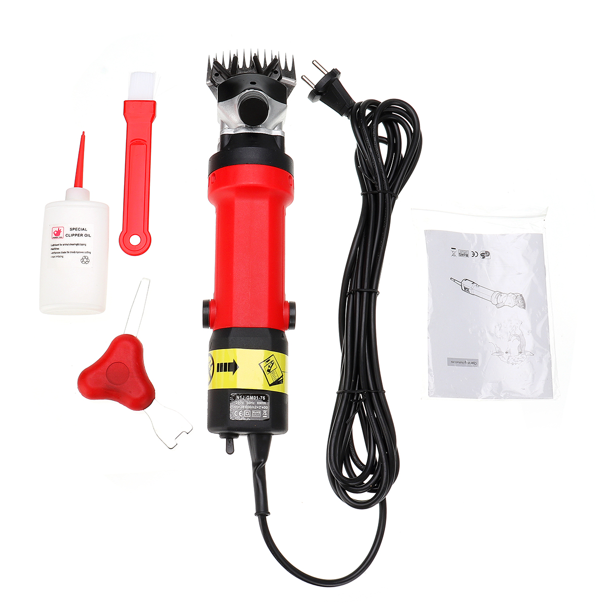 EU Plug 690W Electric Shearing Clipper Pet Sheep Shear Alpaca Goat Farm Wool Cut Trimmer 220V For Wool Electric Sheep Shearing new 680w sheep wool clipper electric sheep goats shearing clipper shears 1 set 13 straight tooth blade comb