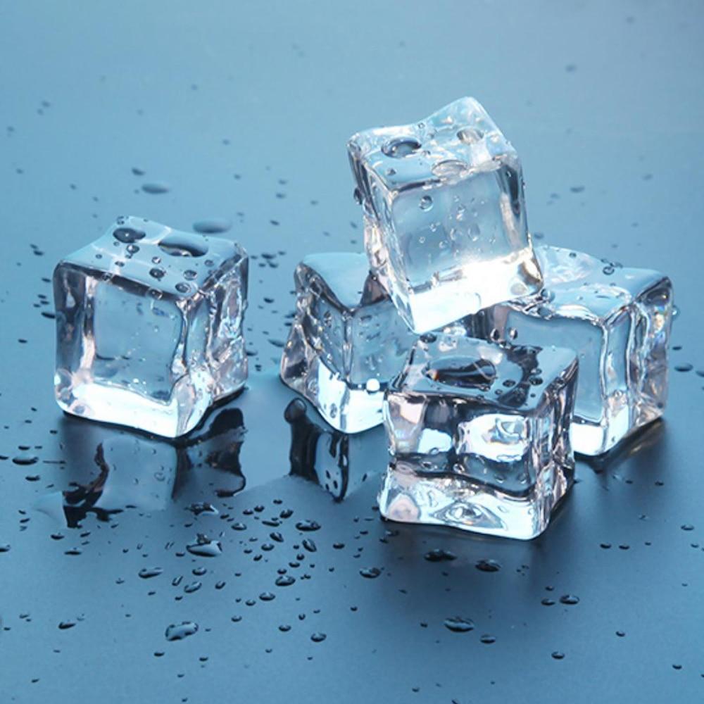 16Pcs 2cm/1.5cm/1cm Artificial Acrylic Square Shape Ice Cubes Photography Props