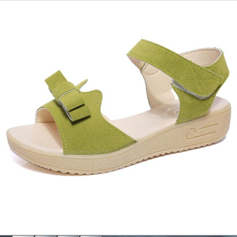 2017 summer Korean fashion Women Adult shoose Sweet Women's Casual Peep-toe Flat Buckle Shoes Roman Sandals Mujer Sandalias 2017 new arrival hot sale fashion summer sweet women flats heel sandals casual buckle strap roman sandals flat flat women shoes