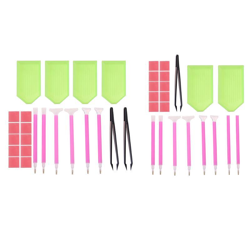 DIY Diamond Painting Accessories 5D Diamond Painting Cross Stitch Embroidery Pen Tools Set Mosaic Glue Pen Kit Tweezers