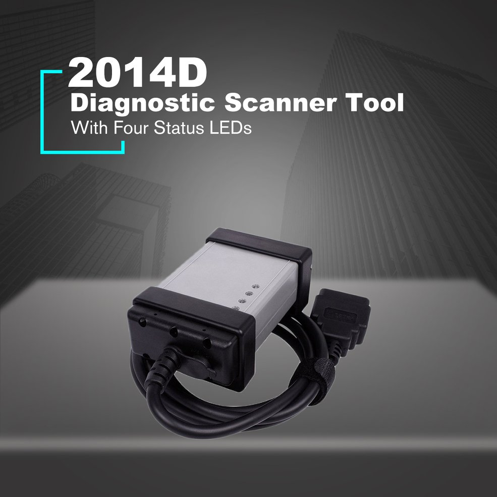 2014D OBD2 OBDII voiture moteur automobile défaut Diagnostic Scanner outil pleine puce vert conseil pour Volvo série Vida Dice