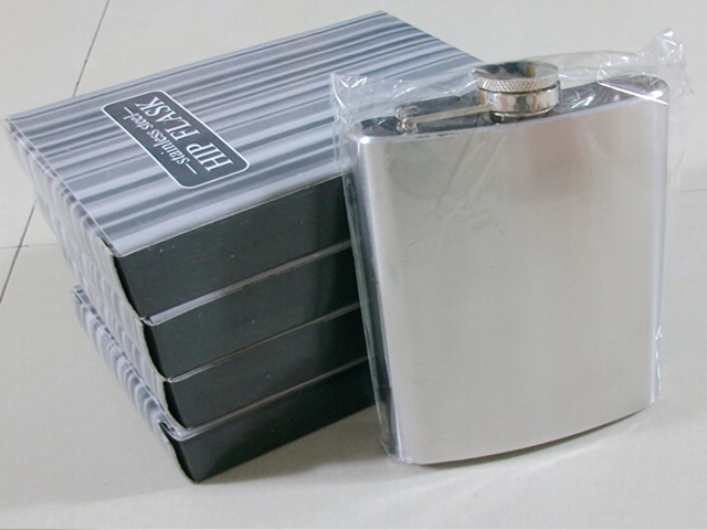 50pcs lot Fedex DHL FreeShipping Protable Pocket 6oz 170ml Stainless Steel Hip Flask With Metal Screw