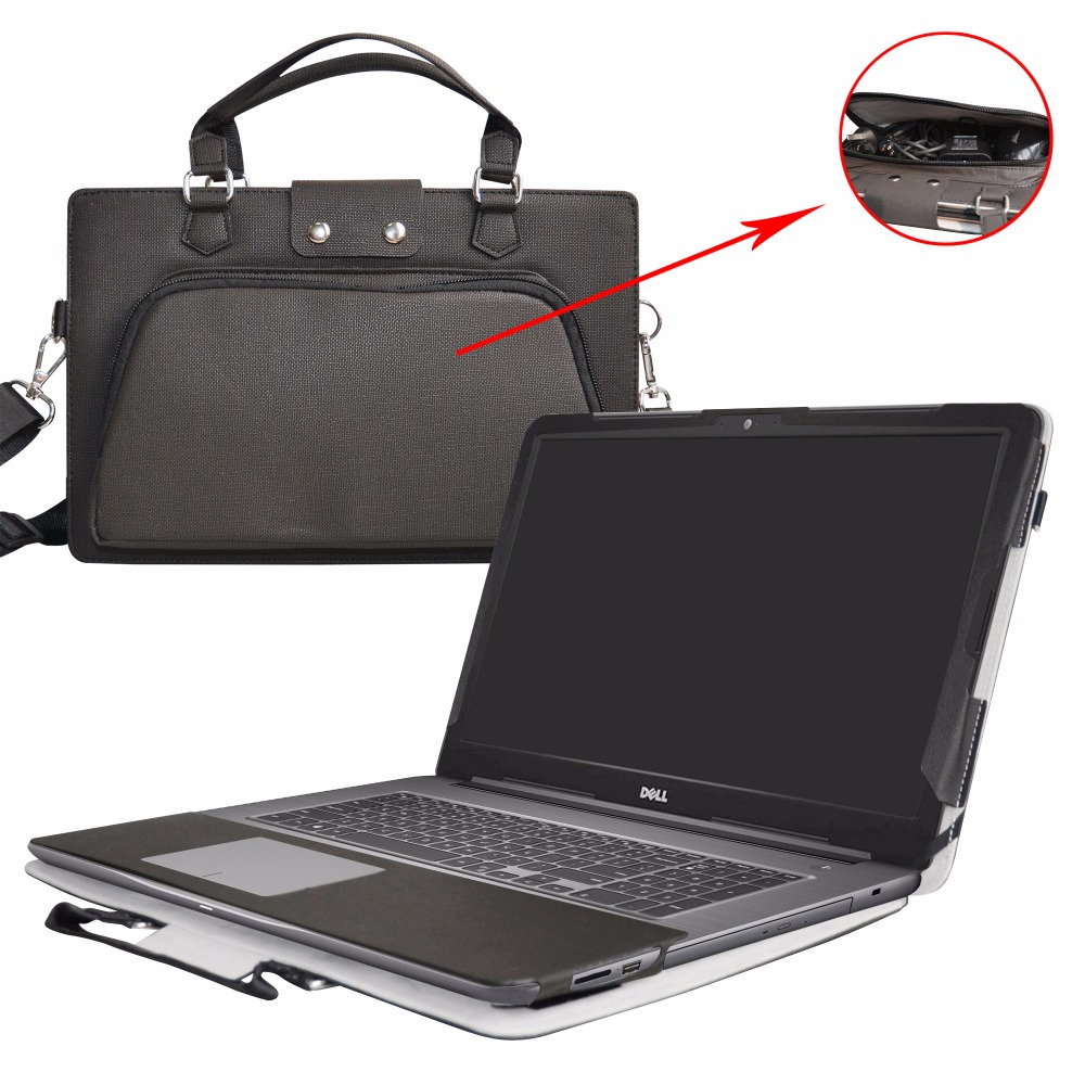 Accurately Designed Protective PU Leather Cover + Portable Carrying Bag For 17.3 Dell In ...