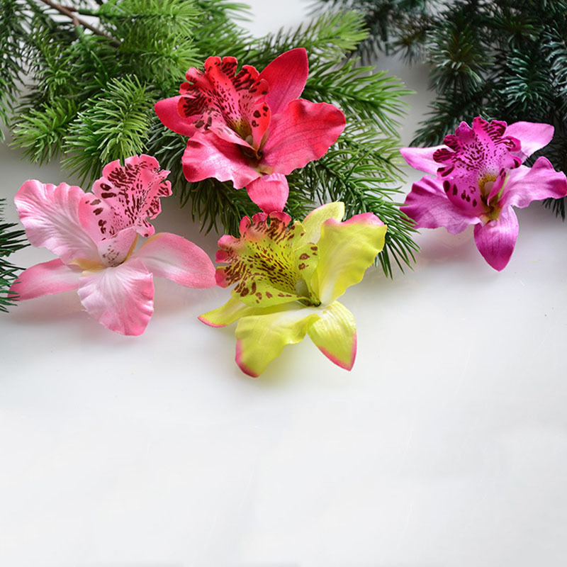 100 Pcs Lot Wedding Flower Bouquet Thai Orchid Sbooking Simulation Diy Silk Flowers Home Party Decoration In Artificial Dried