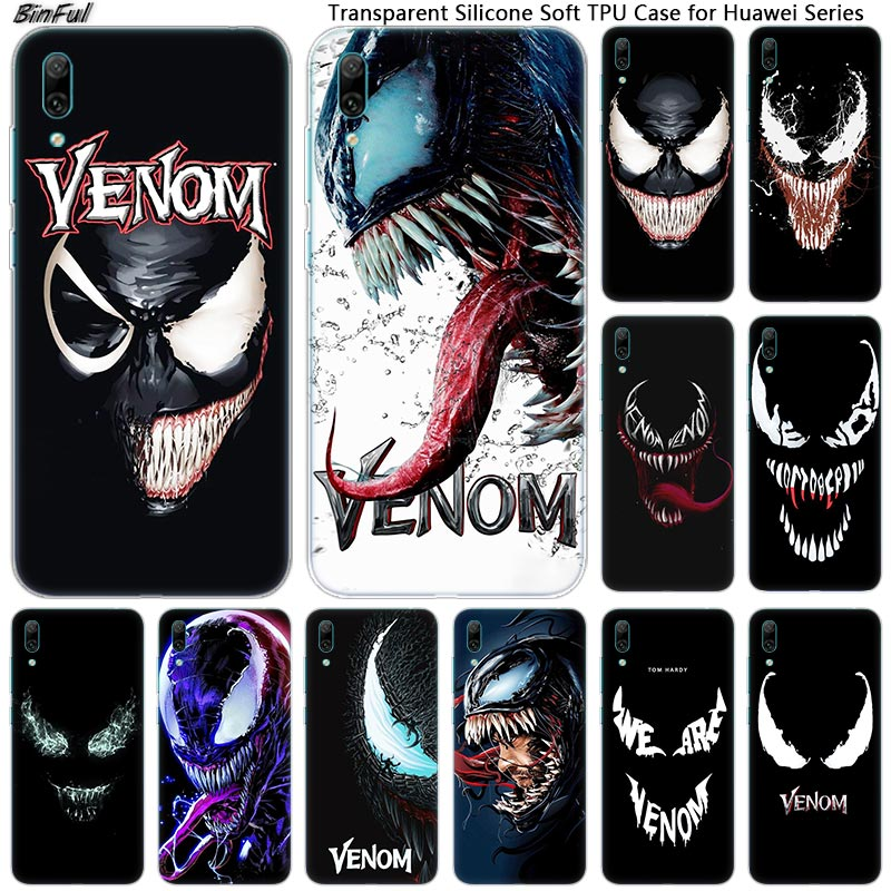Hot Venom <font><b>Marvel</b></font> Soft Silicone Phone <font><b>Case</b></font> for <font><b>Huawei</b></font> Mate 10 20 Lite Pro Enjoy 9S Y9 <font><b>Y7</b></font> Y6 Y5 <font><b>2019</b></font> 2018 Pro 2017 Fashion Cover image