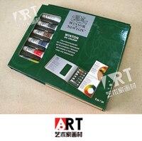 Livraison gratuite Nouveaux produits énumérés principal D'ART peinture À L'huile costume carton pack 6color * 12 ml/Caisse Bois pack 21 ml * 8 couleur
