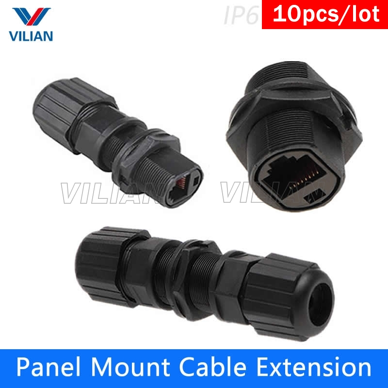 Ethernet Circular Connector RJ45 Plug /& Socket Outdoor Waterproof IP67 Metal