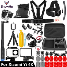 SnowHu For Xiaomi Yi Lite Accessories Selfie  Octopus Tripod For Xiaomi Yi 4K 4K+ Lite Action International Action Camera   GS27 international xiaomi yi 4k plus action camera 2 19 ambarella h2 for sony imx377 12mp 155 degree 4k sports camera touchscreen