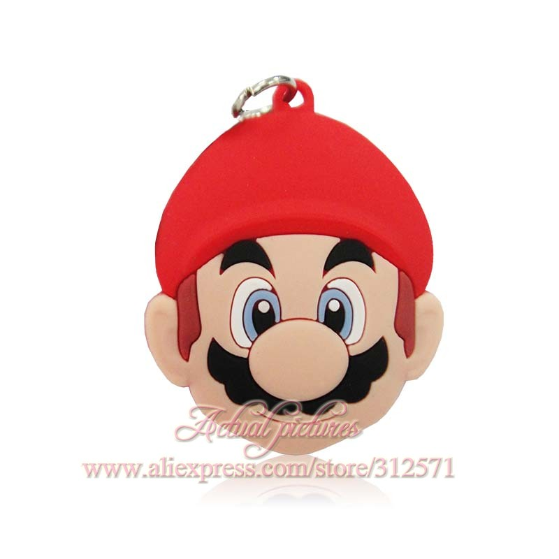 New High Quality 1pcs Super Mario phone pendants gifts fit key chain necklace charms travel accessories kids party gift