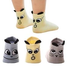 Socks Toddler Anti-Slip Infant Baby Girls Kids Boys Cotton Cartoon Cute for Face-Styles