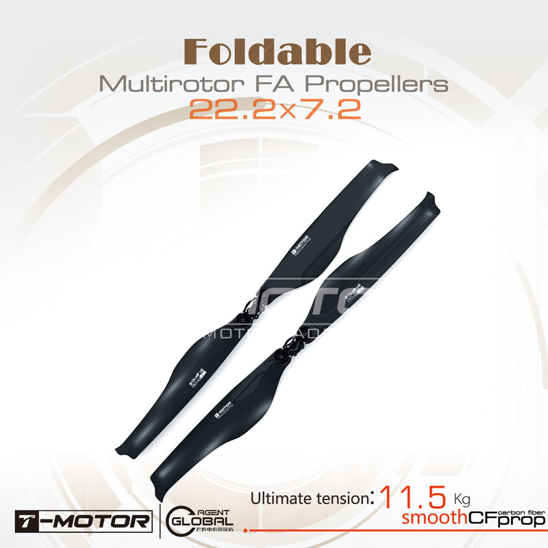 T-motor Folding Carbon Fiber Propeller FA22.2x7.2-2PCS/PAIR For Quadcopter Multicopter Hexa t motor series mn3515 400kv navigator series motor for quad hexa octa multicopter