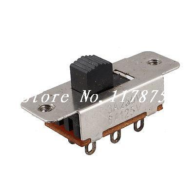 Double Rows 6 Pins 2 Position SPDT PCB Panel Mount Mini Slide Switch