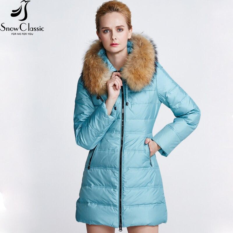 Snow Classic Новая зимняя дамская пуховая куртка с разнообразными цветами действительно теплой шляпой с молнией спереди застежка-молния холодна...