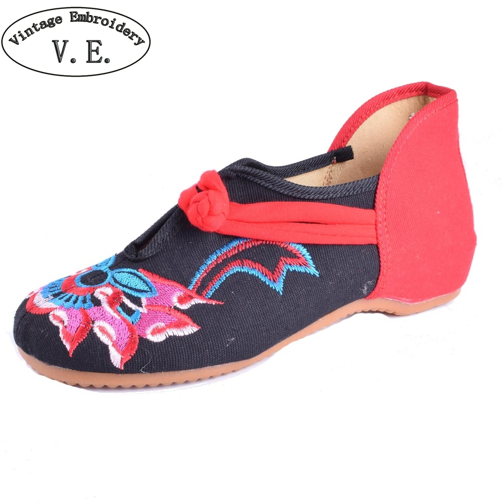 Women Flats Shoes Cloth National Breathable Comfortable Soft Sole Canvas Dance Ballet Flat Shoes For Woman Femme Chaussures chinese women flats shoes flowers casual embroidery soft sole cloth dance ballet flat shoes woman breathable zapatos mujer