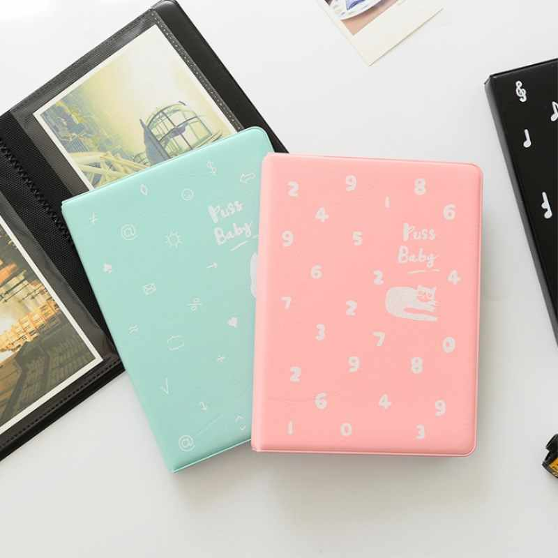 Cat Cat 72 Pockets Album Polaroid Photo Mini Film 6 Inch Polaroid Mini Insert Photo Album DIY Album Memory Scrapbook
