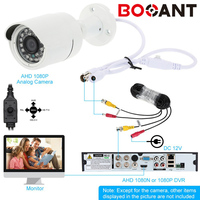 Booant 2MP Night Vision 4in1 Security Camera Outdoor 1080P AHD H HDCVI HDTVI CVBS Cctv Camera