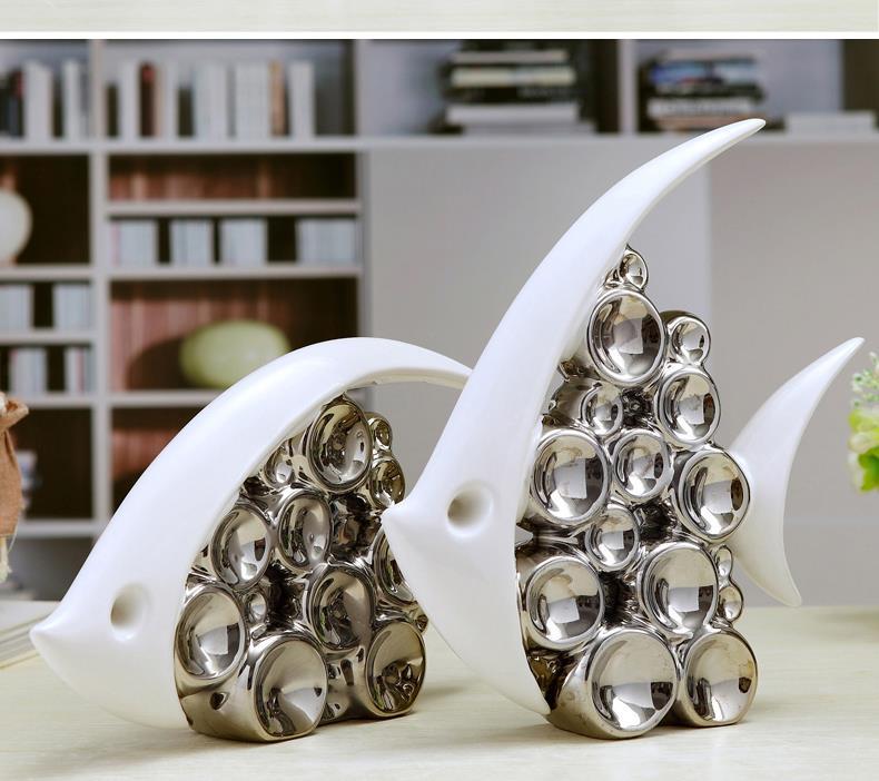Modern Wedding Gifts: Modern Fashion Lovers Fish Crafts Decoration Minimalist