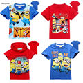 2 To 9 Ages Despicable me 2 minions Children Kids Boys Girls T Shirts Summer Cotton Child Baby Boys Tees Tops T Shirt SAILEROAD