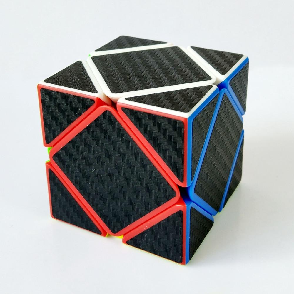Zcube szénszálas matrica 3x3x3 Skew kocka sebesség mágikus kockák puzzle játék oktatási játékok gyerekeknek