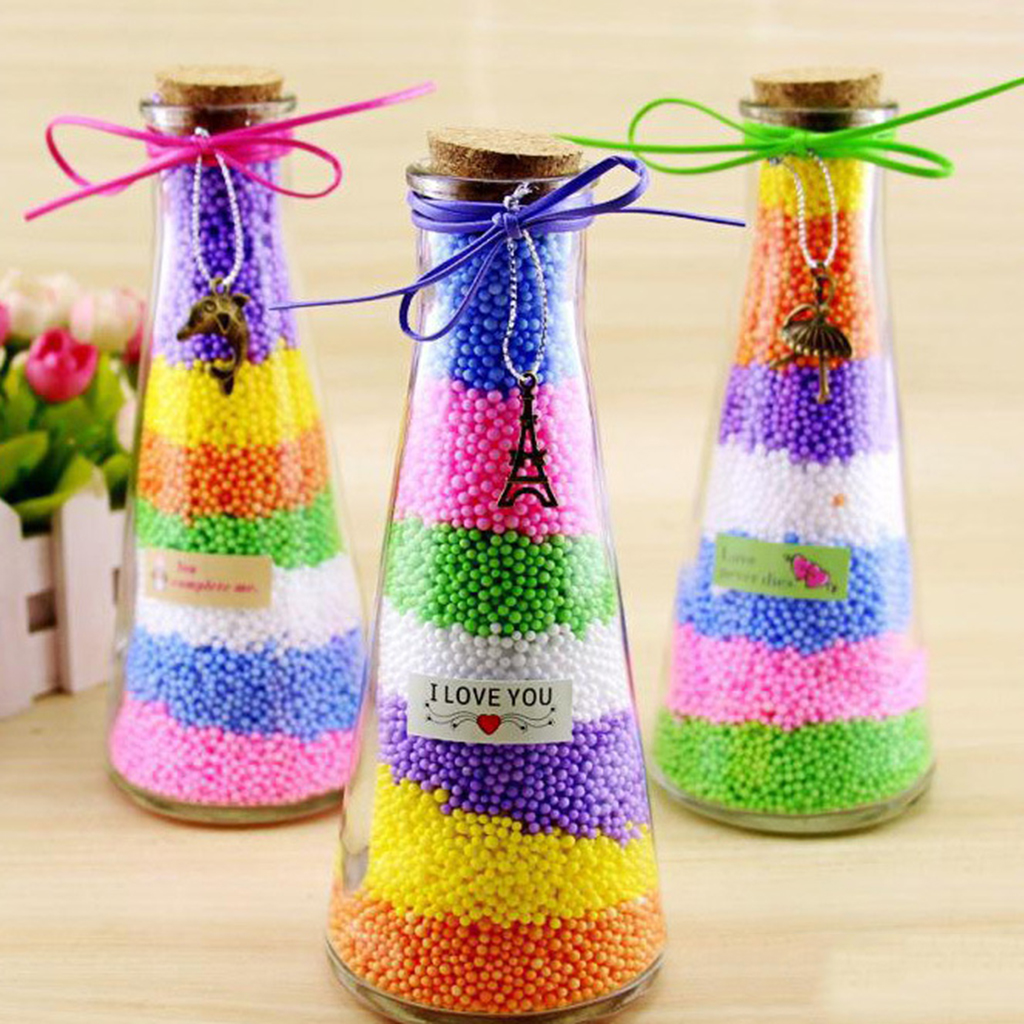 Foam ball craft - New Hot Sale 1 Pack Coloured Styrofoam Balls Small Polystyrene Foam Balls Decorative Ball Diy Christmas