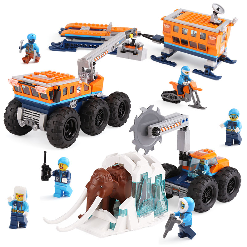 New City Set Arctic Exploration Mobile Base Compatible With LegoINGLYS City 60195 Model Building Block Bricks Toys Children Gift цена
