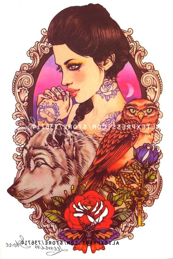 эксклюзивные и оригинал татуировки водонепроницаемый красоты SA Walk цветок рука поднялась Seal татуировки наклейки