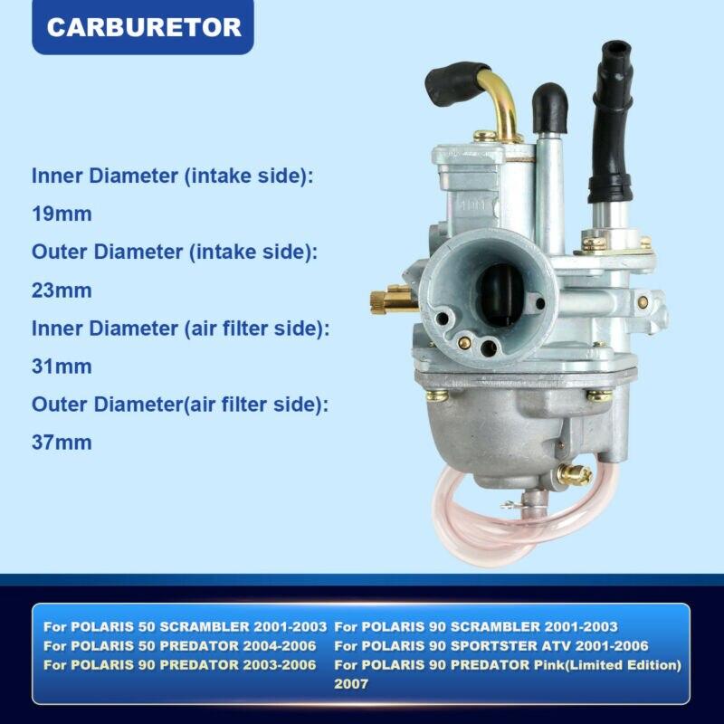 Carburetor For Polaris Sportsman 90 90cc ATV Carb 2001-2006 Parts ...