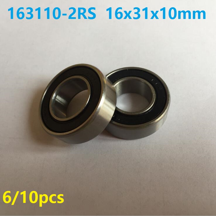 6pcs or 10pcs 163110-2RS 16x31x10 mm bearing Steel Si3n4 ceramic bearing 163110 2RS ball bearing for bicycle bottom bracket abxg 23327 2rs speed connection drum bearing 23327 2rs for sram bicycle hub repair parts bearing 23x32x7 mm 23 32 7 mm