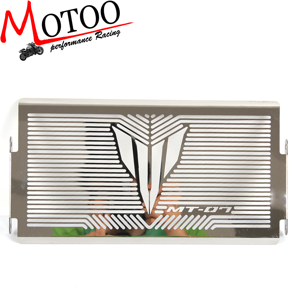 Motoo - free shipping motorcycle Stainless Radiator Grille Grill Cover Protector Guard For YAMAHA MT-07 MT07 arashi motorcycle radiator grille protective cover grill guard protector for 2008 2009 2010 2011 honda cbr1000rr cbr 1000 rr