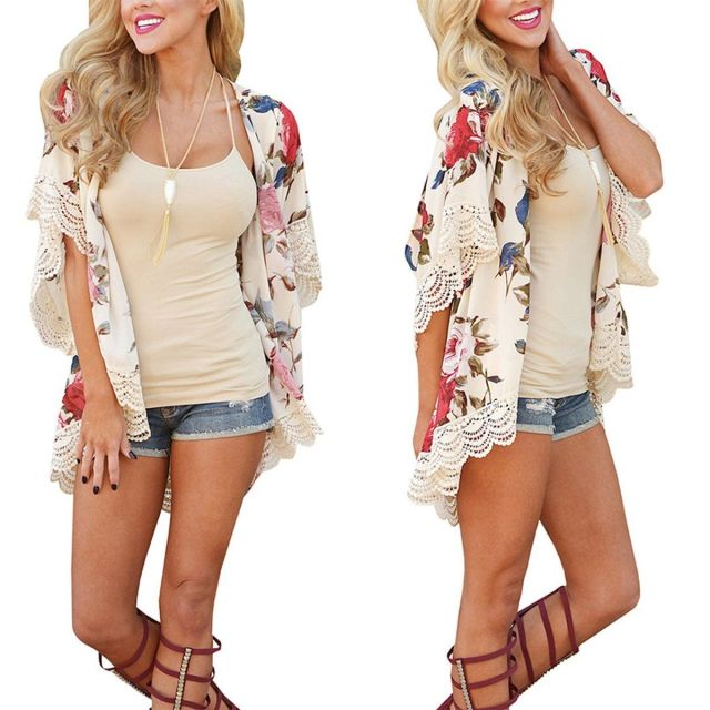 Summer Floral Loose Boho Cardigan