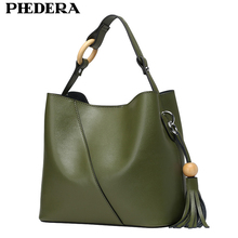 New Graceful Genuine Leather Women Shoulder Bag Handbag Fashion Tassels Bucket Ladies Bags Real Leather Women Messenger Bag gt2 2pcs 20 teeth bore 5 8 mm pulley with 2m pu with steel gt2 6mm open timing belt 2gt timing belt 6mm width for 3d printer