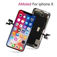 Оригинальный 1:1 OEM ЖК дисплей сенсорный для iPhone X ЖК экран Замена Pantalla + 3D сенсорный дигитайзер DHL