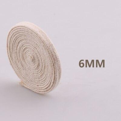 5yd/лот высокопрочный натуральный цвет 3ply круглый плоский канат хлопок шнуры для дома ручной работы аксессуары для одежды проекты рукоделия - Цвет: flat 6mm
