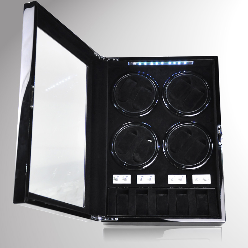 купить NEW DESIGN 8+5 Automatic Watch Winder box Watches storage case display with LED light /TPD mode /Door open switch по цене 33756.88 рублей