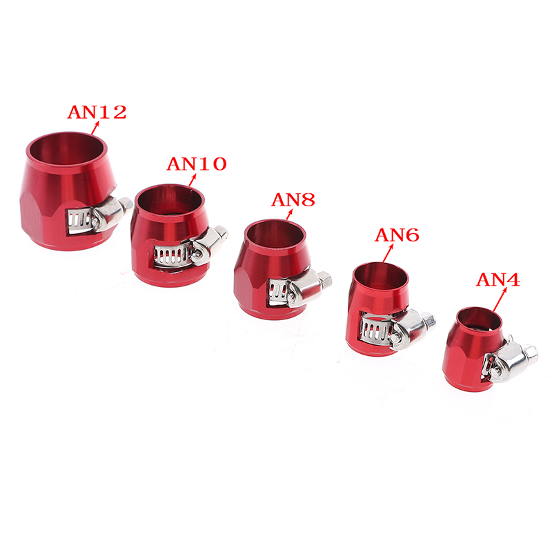 Fuel hose line end cover clamp finisher adapter fitting connectors AN4~AN12 new.