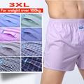 3XL adecuado para bajar de peso sobre 100 kg ropa interior hombre Boxer Shorts fino tejido de algodón flojo cómodo respirable suave muy buena