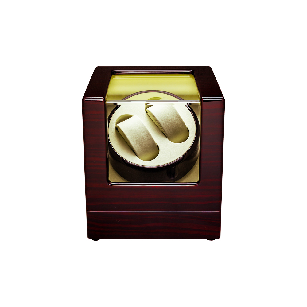Watch Winder ,LT Wooden Automatic Rotation 2+0 Watch Winder Storage Case Display Box (Outside is rose red and inside is black) 2016 latest luxury 5 modes german motor watch winder yellow spray paint wooden white pu leater inside automatic watch winder